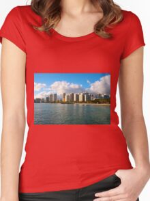 Waikiki Beach, Honolulu OAHU Women's Fitted Scoop T-Shirt