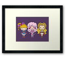 Lil' CutiEs - Eighties Ladies Framed Print