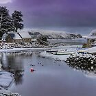 Abersoch  inner harbour with snow by Turtle  Photography