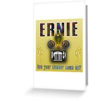 Ernie and the Premium Bonds Greeting Card