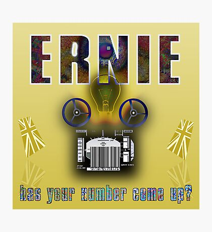 Ernie and the Premium Bonds Photographic Print