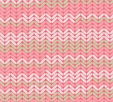 Pink Knitted Knitting Printed Design - For a Craft Lover by Illuzstrated