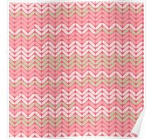 Pink Knitted Knitting Printed Design - For a Craft Lover Poster