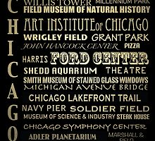 Chicago Illinois Famous Landmarks by Patricia Lintner