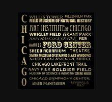 Chicago Illinois Famous Landmarks Unisex T-Shirt