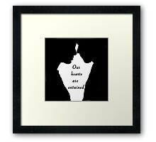 Our hearts are entwined Framed Print