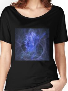 An Electric Fairy Fantasy in Blue Women's Relaxed Fit T-Shirt