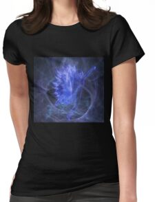 An Electric Fairy Fantasy in Blue Womens Fitted T-Shirt