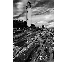 Driftwood to Lighthouse Photographic Print