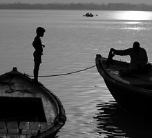 Boy on the Ganga by steve nicholson