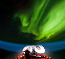 Aurora Australis over the RSV Aurora Australis by Doug Thost