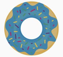 Donut with Blue Icing and Rainbow Sprinkles Kids Clothes
