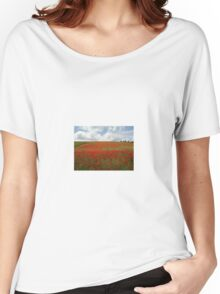 Red poppy field Women's Relaxed Fit T-Shirt