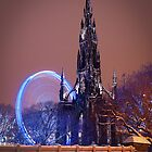 Scott Monument at Winter Festival by KWTImages