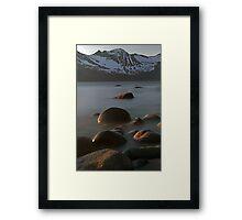 Rocks in the arctic Framed Print