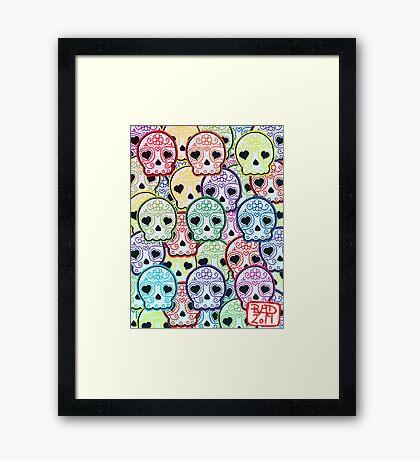 Baby suga skull pattern Framed Print