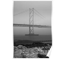 Misty Forth Road Bridge. Poster