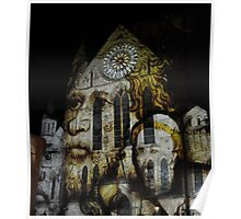 Faces at York Minster Poster