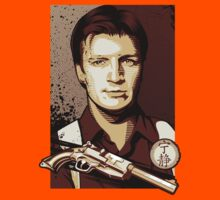 Malcolm Reynolds from Firefly in Shepard Fairey Obama Poster Style Kids Clothes