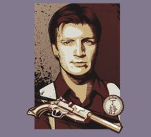Malcolm Reynolds from Firefly in Shepard Fairey Obama Poster Style Kids Tee