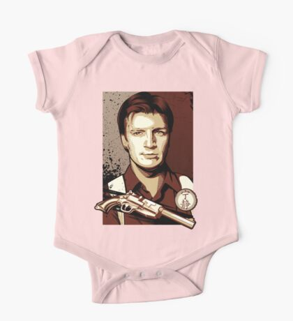 Malcolm Reynolds from Firefly in Shepard Fairey Obama Poster Style One Piece - Short Sleeve