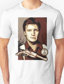 Malcolm Reynolds from Firefly in Shepard Fairey Obama Poster Style T-Shirt