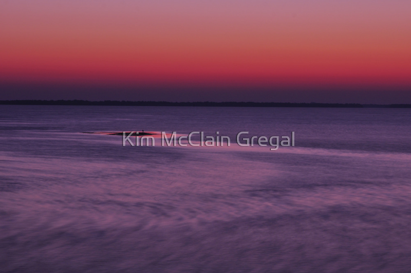 Sunrise from the Boca Grande Pier by Kim McClain Gregal