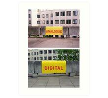 Analogue versus digital at Southbank Centre Art Print