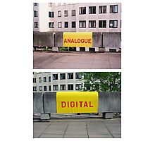 Analogue versus digital at Southbank Centre Photographic Print