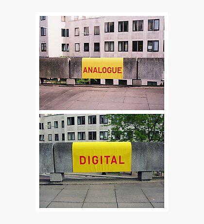 Analogue versus digital at Southbank Centre Photographic Print