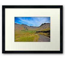 Mickleden Valley Road Framed Print