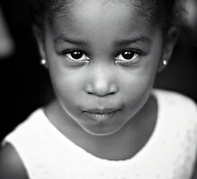 B+W flower girl portrait by kaledyson