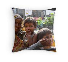 Calcutta Traffic Jam Throw Pillow