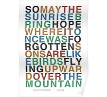 Upward Over the Mountain - Iron & Wine Poster