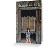 Katey's Saloon Greeting Card