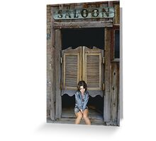 Katey's Saloon Greeting Card