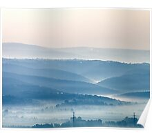 Misty Watercolor Morning Poster