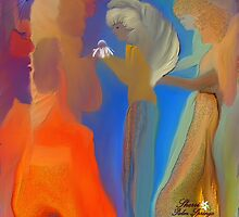 MAY ANGELS WITH THE DEVIL LOOKING IN. by Sherri     Nicholas
