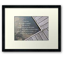 Isaiah 1:18  Framed Print