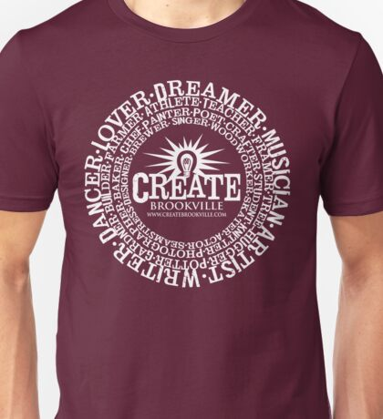 CREATE Brookville - circular Unisex T-Shirt