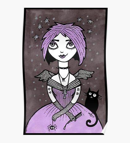 Little Goth Girl Poster