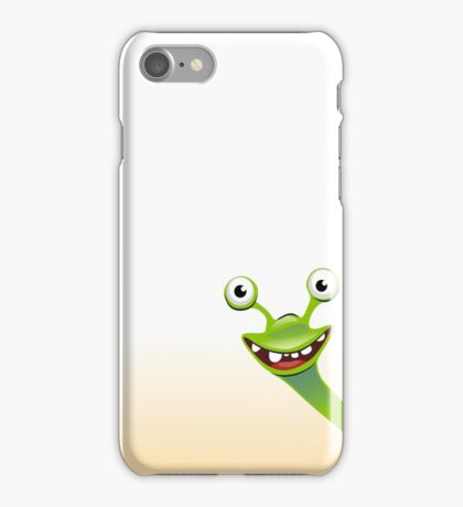 Funny smiling green snail iPhone Case/Skin