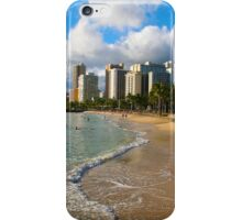 Hawaii - Oahu Island, Honolulu Waikiki Beach Panorama iPhone Case/Skin
