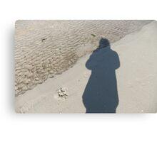 Shadow on beach Canvas Print
