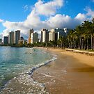 Hawaii - Oahu Island, Honolulu Waikiki Beach Panorama by Bruno Beach