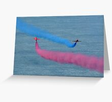 Passing Arrows Greeting Card