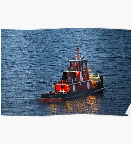 Tugboat Heading Home Poster