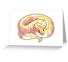 Albino Ball Python V2 Greeting Card
