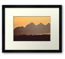 southern olympic mtn sunset, washington, usa Framed Print