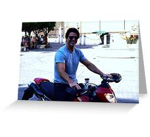 Up close with Tom Cruise Greeting Card